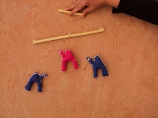 Mobile figurines dromadaires