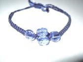 Coton et perles bleu
