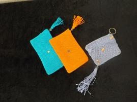 Bleu ciel - Orange - Gris clair