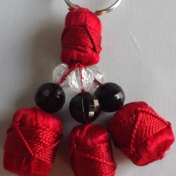Porte-clé rouge uni