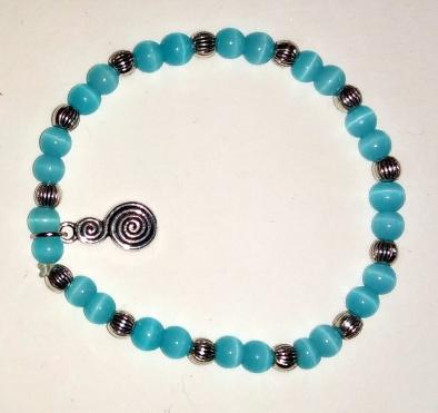 Bracelet bleu et serpentin