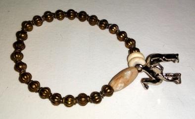 Perles cuivrées et dromadaire