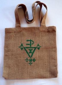 sac motif berbere vert