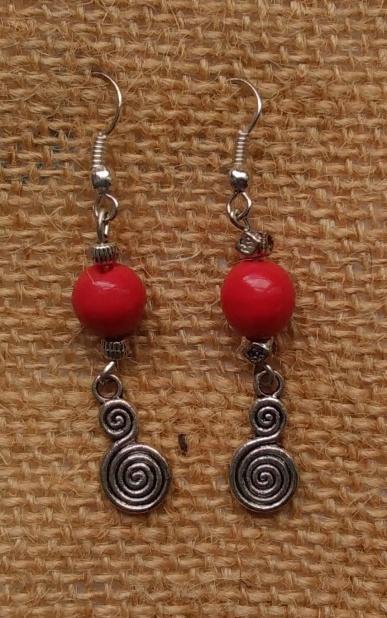Boucles metal et perle