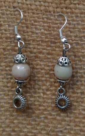Boucles perle blanche