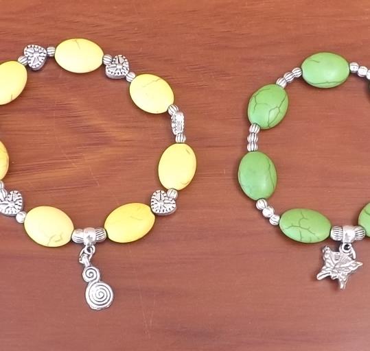 Bracelet motif galet