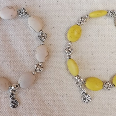 Duo blanc et jaune