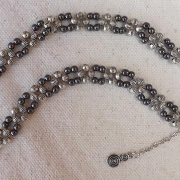Perles dégradé de gris